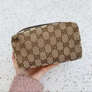 NWT Authentic Gucci Men's GG Big Toiletry Bag